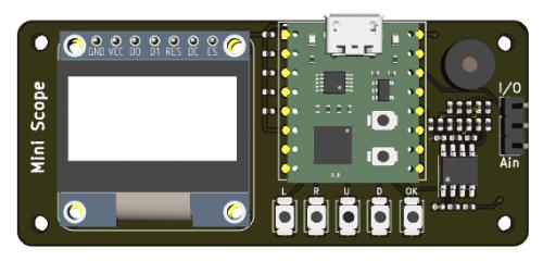 简易示波器DIY套件的3D效果图1